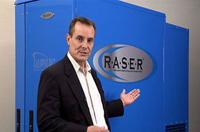 CEO Bill Stockwell with the RASER