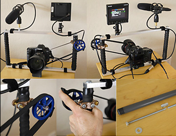 Camera support with focus wheel